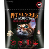8 x Pet Munchies 100% Gourmet Beef Liver Natural Cat Treats 10g