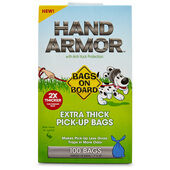 Bags On Board Hand Armor Extra Thick Pick-Up Bags - 100 Pack