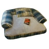 AniMate Sofa With Cushion Zip Cover Tweed Blue