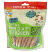 3 x Good Boy Pawsley & Co Chewy Twists Dog Treats With Chicken 320g