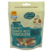 10 x Good Boy Pawsley & Co Chewy Mini Bones With Chicken 80g
