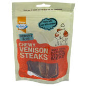12 x Good Boy Pawsley & Co Chewy Venison Steaks 80g