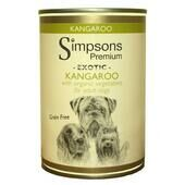 6 x Simpsons Premium Organic Adult Kangaroo With Organic Vegetables 400g