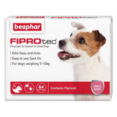 Beaphar FIPROtec Flea & Tick Spot On Small Dog (2-10kg) - 6 Treatments
