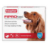 Beaphar FIPROtec Flea & Tick Spot On Medium Dog (10-20kg) - 6 Treatments