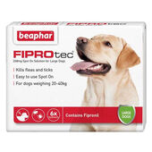 Beaphar FIPROtec Flea & Tick Spot On Large Dog (20-40kg) - 6 Treatments