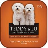 12 x Teddy & Lu Complete Pate Chicken & Turkey 150g