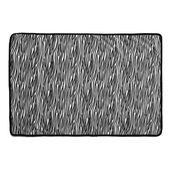 Snuggle Puppy Fleece Blanket Zebra Print Black & White 122 X 81cm