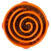 Outward Hound Fun Feeder Orange Slow Feed Dog Bowl - Regular