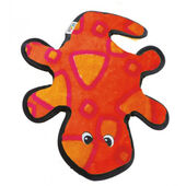 Outward Hound Invincibles Gecko Red/orange 2 Squeaker