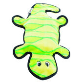 Outward Hound Invincibles Gecko Plush Dog Toy - Yellow & Green