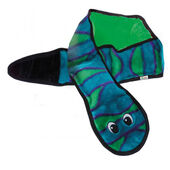 Outward Hound Invincibles Snake Blue/green 6 Squeaker