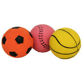 3 x 10cm Jolly Doggy Rubber Sports Balls 3 Pack