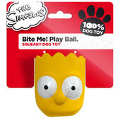 5 x The Simpsons Latex Bite Me! Play Ball Bart