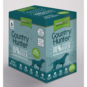 3 x Natures Menu  Country Hunter Dog Adult Pouch Duck 6x150g