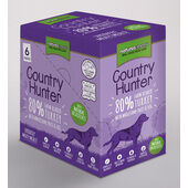 18 x Natures Menu Country Hunter Dog Adult Pouch Turkey 150g