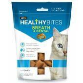 8 x VetIQ Healthy Bites Cat Breath & Dental Treats 65g