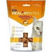 8 x VetIQ Healthy Bites Cat Hairball Remedy Treats 65g