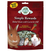 8 x Oxbow Simple Rewards Baked Treats With Carrot & Dill 60g