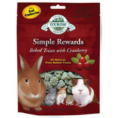 8 x Oxbow Simple Rewards Baked Treats With Cranberry 60g