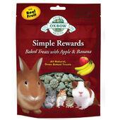 8 x Oxbow Simple Rewards Baked Treats With Apple & Banana 60g
