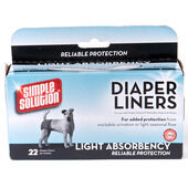 Simple Solution Dog Diaper Liners 22 Pack