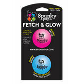 8 x Spunky Pup Fetch & Glow Ball Small (Assorted Colours)