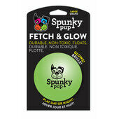 4 x Spunky Pup Fetch & Glow Ball Large (assorted Colours)