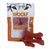 10 x Woolf 100% Big Bone Of Duck And Carrot Dog Snacks 100g