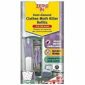 6 x Zero In Demi Diamond Clothes Moth Killer Refills Pack 2