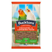 4 x Bucktons Cockatiel & Lovebird Food With Spiralife 500g