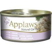 24 x Applaws Cat Can Kitten Sardine 70g