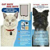 Cat Mate Electromagnetic Pet Flap Large Cat/small Dog White