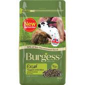 6 x Burgess Excel Adult Rabbit Nuggets With Mint 1kg