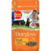 6 x Burgess Excel Adult Guinea Pig Nuggets With Mint 1kg