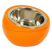 Hing Designs The Dome Dog & Cat Pet Feeding Bowl - Orange