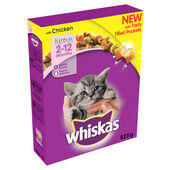 Whiskas 2-12 Months Kitten Complete Dry With Chicken 825g