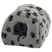 Danish Design Fleece Paw Grey Cat Igloo Bed