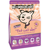 8 x 250g Meowing Heads Fat Cat Slim Light Food