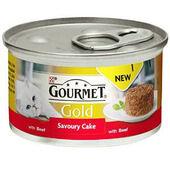 12 x Gourmet Gold Savoury Cake Beef In Gravy 85g
