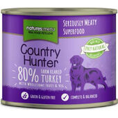 Natures Menu Country Hunter Meals Dog Can Farm Reared Turkey 600g