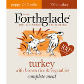 18 x 395g Forthglade Complete Puppy Turkey With Brown Rice & Veg