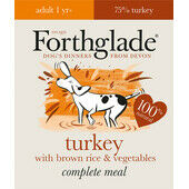 18 x 395g Forthglade Complete Adult Turkey With Brown Rice & Veg
