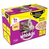 Whiskas Pouch 1+ Poultry Selection Creamy Soup 12x85g