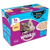 Whiskas Pouch 1+ Fish Selection Creamy Soup 12x85g