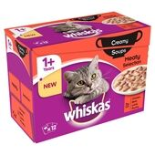Whiskas Pouch 1+ Meaty Selection Creamy Soup 12x85g
