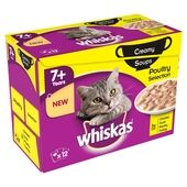 Whiskas Pouch 7+ Poultry Selection Creamy Soup 12x85g