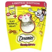 4 x Dreamies Snacky Mouse Treat Toy With Cheese Treats 60g