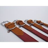 Rosewood Luxury Leather Collar Soft Touch Red 3/4