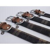 Rosewood Luxury Leather Collar Tweed Check 3/4